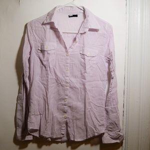 BDG Button Down Striped Shirt